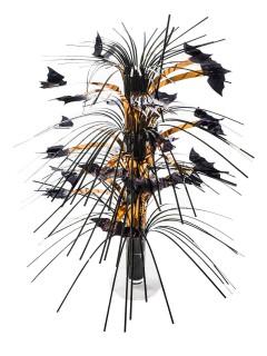 Tischkaskade Fledermäuse Halloween Party-Tischdeko gold-schwarz 45cm