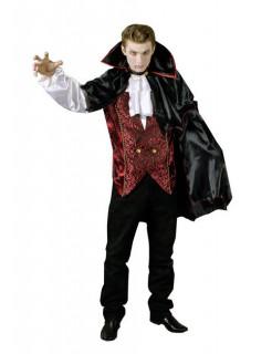 Eleganter Vampir Kostüm schwarz-rot