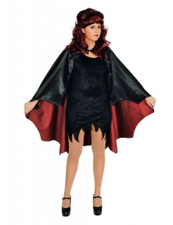 Vampir-Umhang Fledermaus-Cape 115cm schwarz-rot