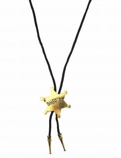 Cowboy-Halskette Sherriff-Stern schwarz-gold