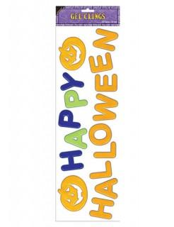 Happy Halloween Gel-Aufkleber Party-Deko 16-teilig bunt