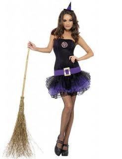 Tutu Hexen-Kostüm für Damen schwarz-lila