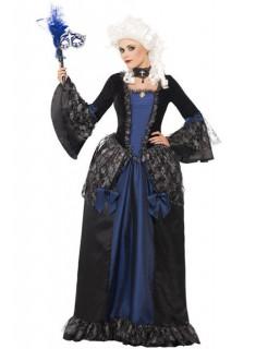 Barock-Damenkostüm Prinzessin schwarz-blau
