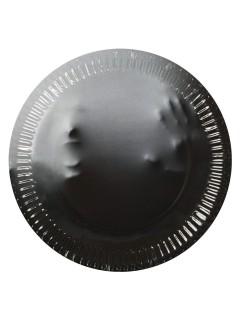 Geister Pappteller Halloween Party-Deko 10 Stück grau 23cm