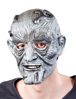 Monster Halloween Maske grau