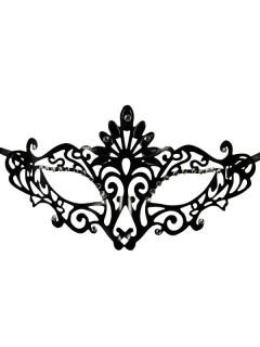 Venezianische Ornament-Augenmaske Gothic schwarz