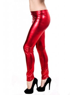 Metallic-Leggings Lack rot