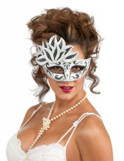 Venezianische Augen-Maske schwarz-weiss