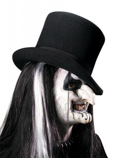 Horror-Harlekin Halloween Latexapplikation-Set weiss