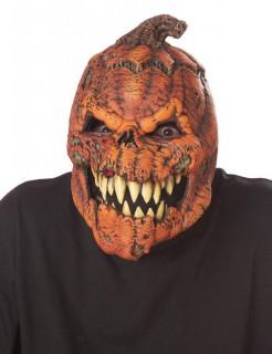 Horrorkürbis Ani-Motion™ Maske für Halloween orange-braun-weiss