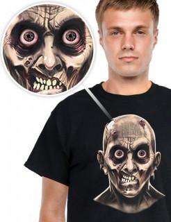 Digital Dudz Halloween T-Shirt bewegliche Augen schwarz-grau