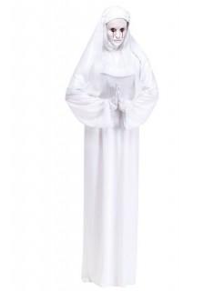 Geister-Nonne Halloween-Damenkostüm weiss