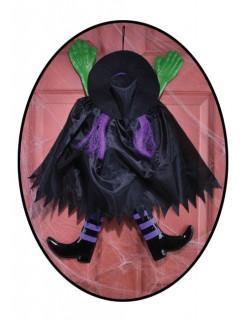 Hexenunfall Halloween-Hängedeko schwarz-grün-lila 52x65cm