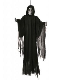 Skelett Halloween-Hängedeko Sensenmann schwarz 152cm