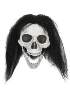 Skelett-Schädel Halloween-Deko schwarz 23x14x11cm