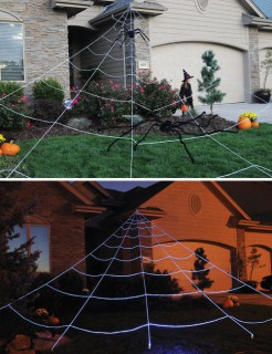 Riesen-Spinnennetz Garten-Deko Halloween-Deko weiss 7m x 5.7m