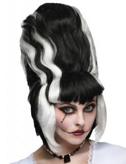 Monster-Braut Perücke schwarz-weiss