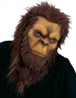 Affenmensch Maske Karneval braun