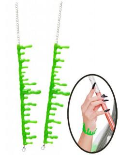Schleim-Armband-Set für Halloween grün