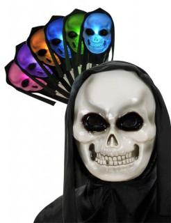 Leuchtende Halloween-Maske mit Kapuze Farbenwechsel bunt