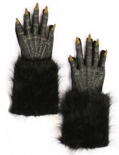 Halloween Werwolf Handschuhe schwarz