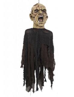 Zombie-Hängedeko Halloween Leiche beige-schwarz 80x40cm