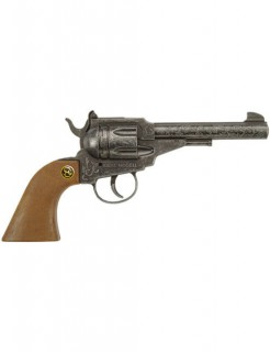 Cowboy-Pistole Corporal Antique 100 Schuss Kostüm-Accessoire braun-silber 22cm
