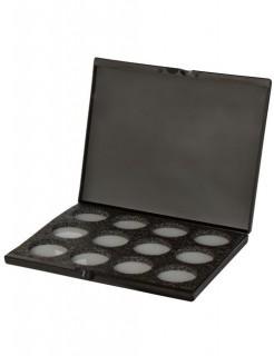 Aqua-Make-Up Schmink-Palette Mehron für 12 Farben schwarz