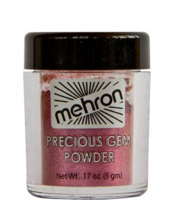Mehron Glanz-Puder-Lidschatten Make-up dunkelrot 5g