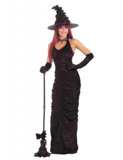 Hexe Halloween-Kostüm dunkle Zauberin schwarz