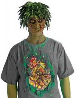 Zombie T-Shirt Gedärme Halloween grau-grün