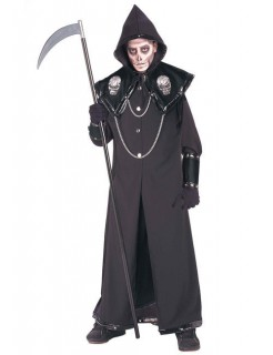 Grausamer Sensenmann Halloween-Kostüm schwarz