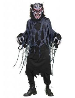 Werwolf-Kostüm für Halloween schwarz