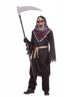 Zombie Sensenmann Halloween-Kostüm schwarz-lila