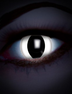 UV Kontaktlinsen Katze weiss-schwarz