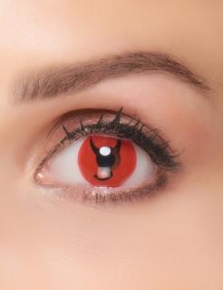 Kontaktlinsen Teufel rot-schwarz