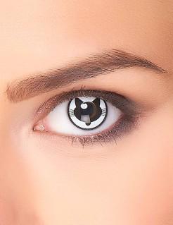 Kontaktlinsen Katze weiss-schwarz