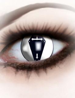 Kontaktlinsen Sarg schwarz-weiss