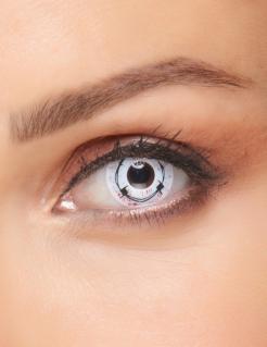 Kontaktlinsen Stacheldraht weiss-schwarz