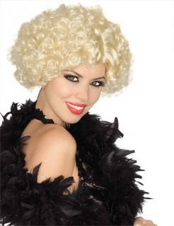 Bob-Perücke mit Locken 20er-Jahre Kostümaccessoire blond