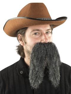 Riesen-Schnurrbart Mexikaner Accessoire grau
