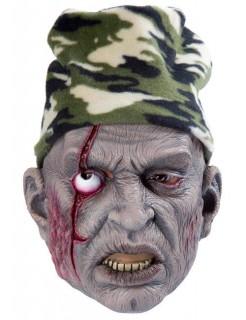Zombie-Maske für Halloween mit Mütze bunt
