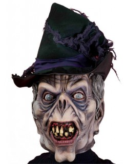 Zombie Halloween-Maske schwarz-grau