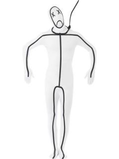 Hangman Second-Skin-Suit Kostüm weiss-schwarz