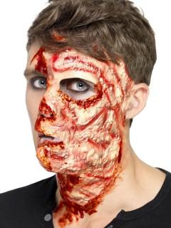 Verbranntes Gesicht Narben Halloween Latex-Applikation haut-rot