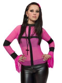 Gothic GoGo Shirt pink-schwarz