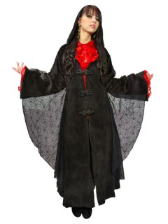 Gothic Samt-Mantel schwarz