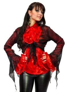 Gothic Bolero Spinnweben schwarz