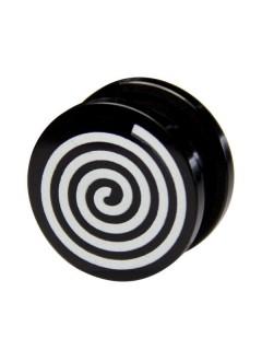 Earplug Spirale schwarz-weiss 17mm