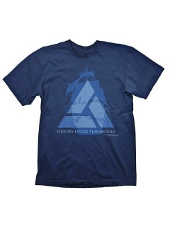 Assassins Creed 4 T-Shirt Distant Lands Fanshirt blau